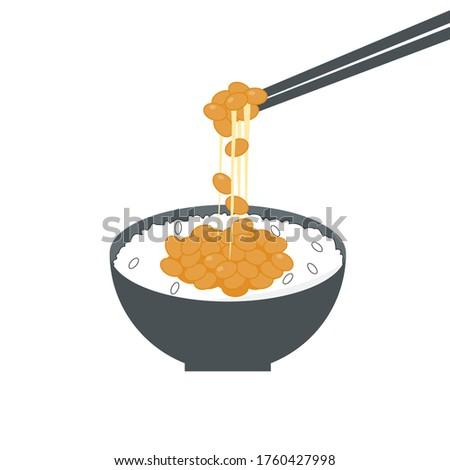 natto gohan  japanese fermented