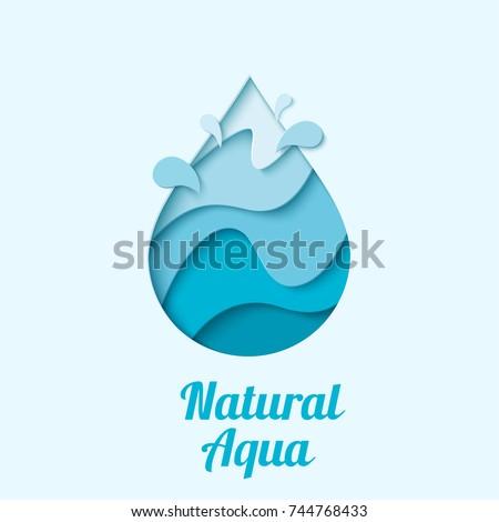 natural aqua   water drop logo