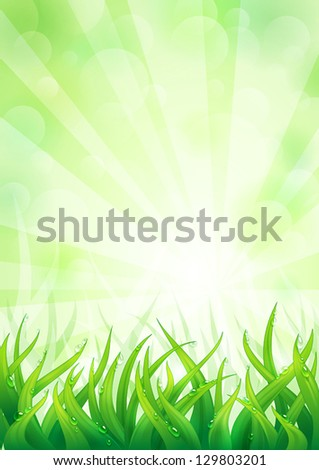natural background with lush
