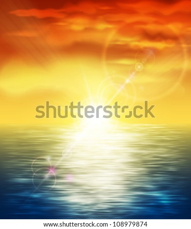 natural background with sunset
