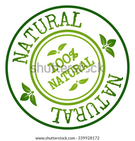 Natural Badge & Stamp. Vector illustration