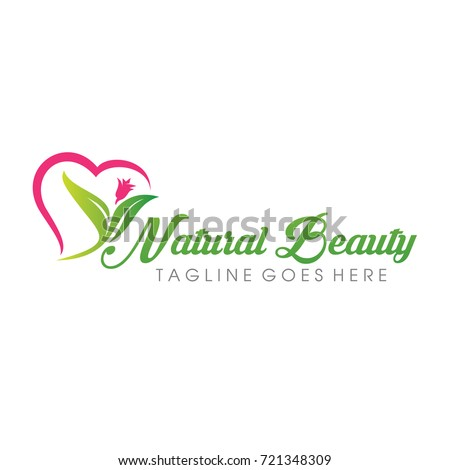 natural beauty logo vector