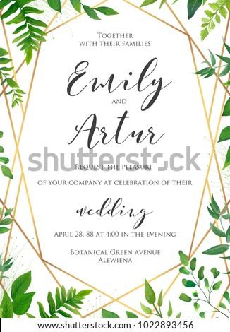 natural botanical wedding