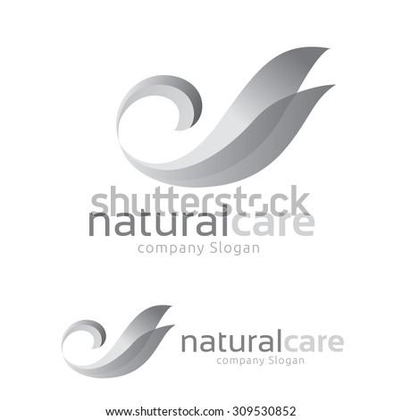 natural care logo swan logo