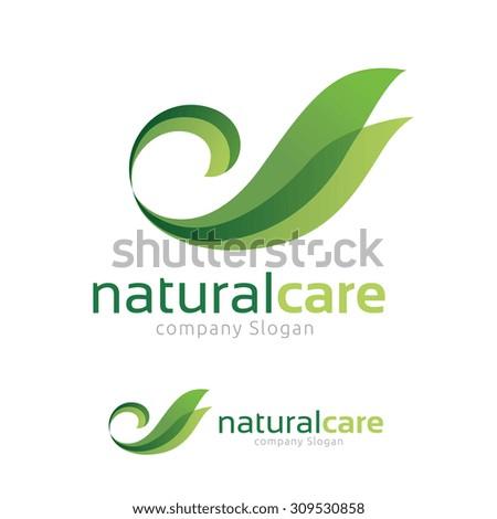 Natural Care logo,Swan logo,Bird Logo,Green and Eco Logo,Vector Logo Template