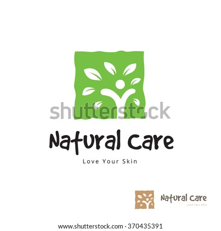 Natural Care logo,Vector logo template