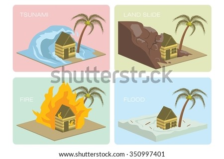natural disaster icon set  1