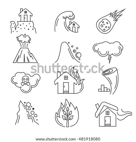 earthquake coloring pages - natural disaster coloring book sketch coloring page