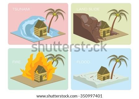 natural disaster illustration