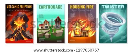 natural disasters 4 colorful