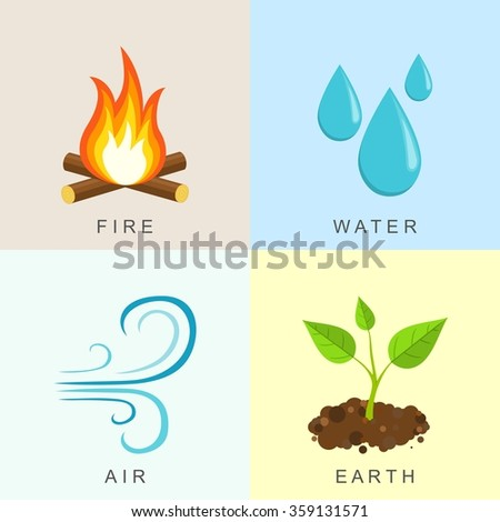 natural elements  fire  water