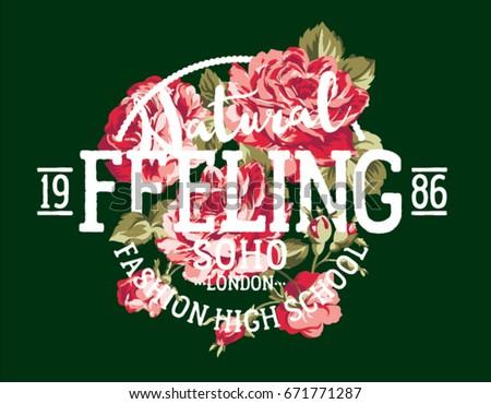 natural feeling fashion roses ...