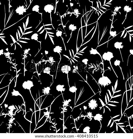natural floral seamless pattern