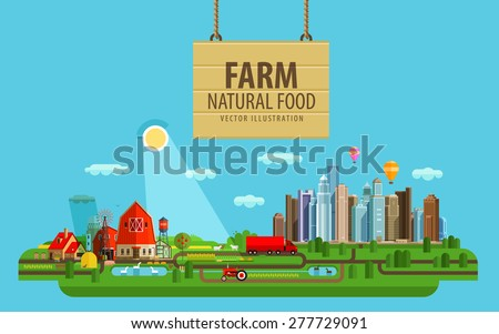 natural food farm and city