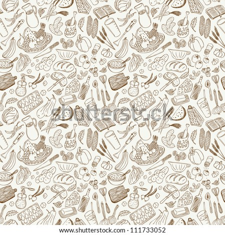 natural food  seamless background