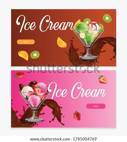 natural fruit ice cream balls