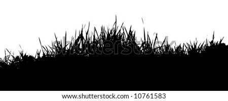 natural grass vector silhouette