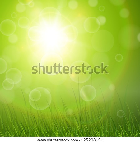 natural green background with