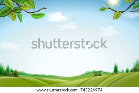 natural green field background