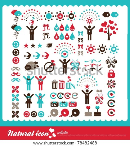 natural icon collection