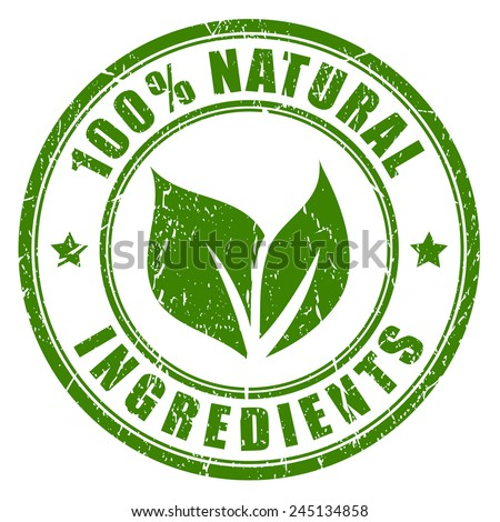 Natural ingredients stamp #245134858