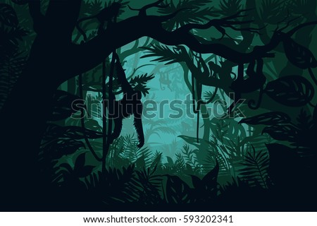 natural jungle landscape