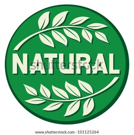 natural label (natural seal, natural symbol)