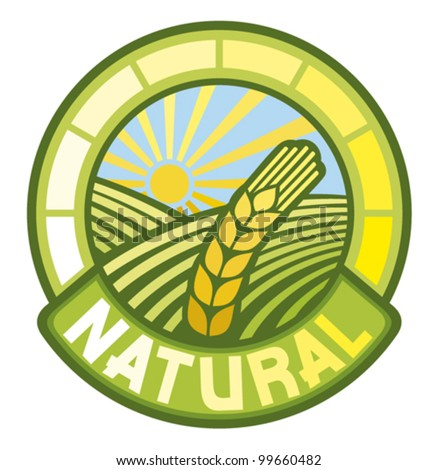 natural label (natural seal, natural symbol)