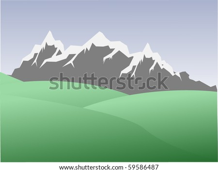 natural landscape high  mountains