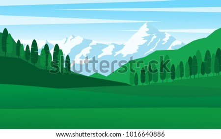 natural landscape panorama view