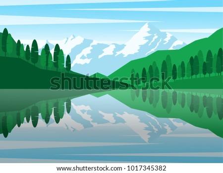 natural landscape panorama view