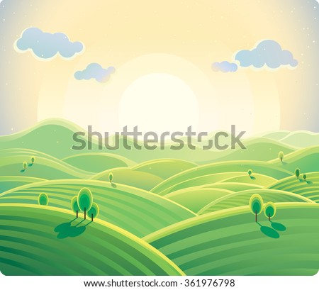 natural landscape  sunrise over
