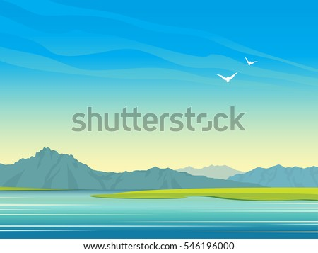 natural landscape with calm