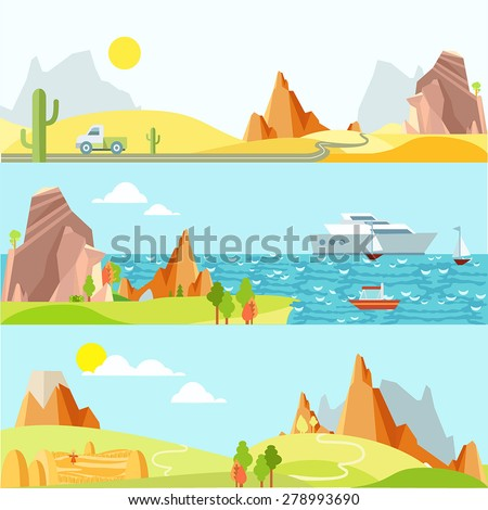 natural landscapes in flat