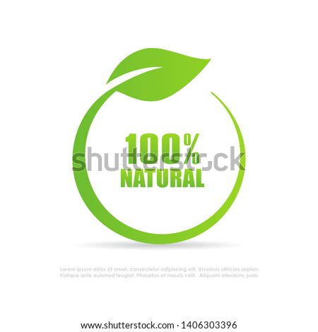 Natural leaf vector logo isolated on white background