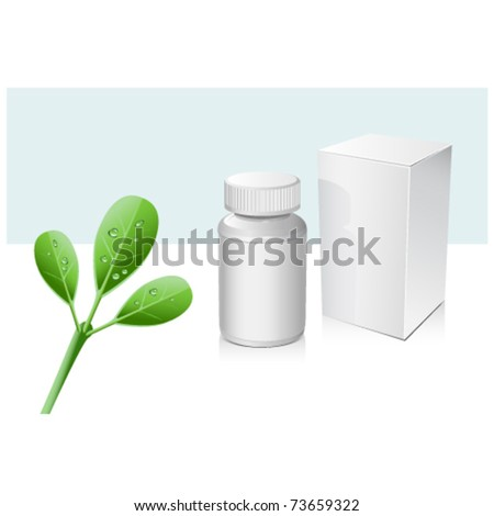 Natural medicine bottle and box