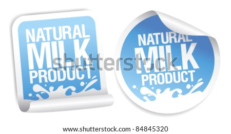Natural milk product stickers.