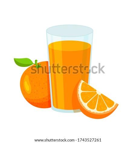 natural orange juice in a glass
