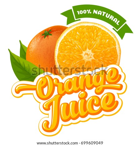 natural orange juice label