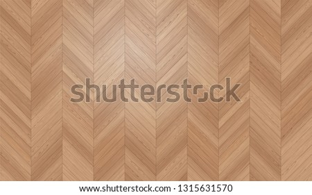 Natural Photo Realistic Wooden Floor Vector Background. Engineered Chevron, Hungarian Point Parquet Texture
