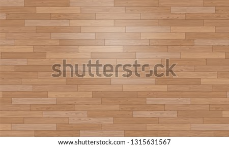 Natural Photo Realistic Wooden Floor Vector Background. Shipdeck Parquet Texture