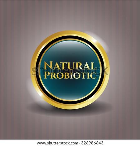 Natural Probiotic gold emblem