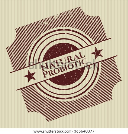 Natural Probiotic rubber grunge texture stamp