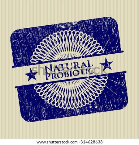 Natural Probiotic rubber stamp