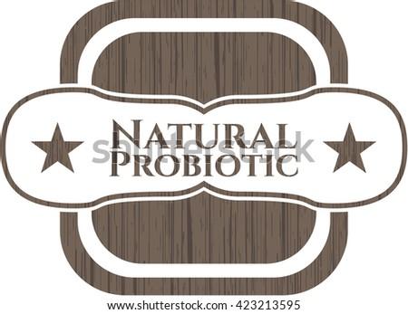 Natural Probiotic wooden signboards
