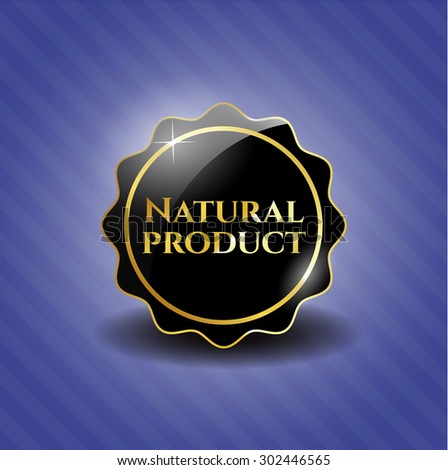 Natural Product black shiny emblem