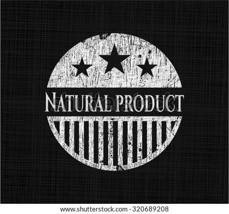 Natural Product chalkboard emblem