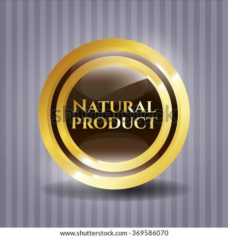Natural Product gold emblem