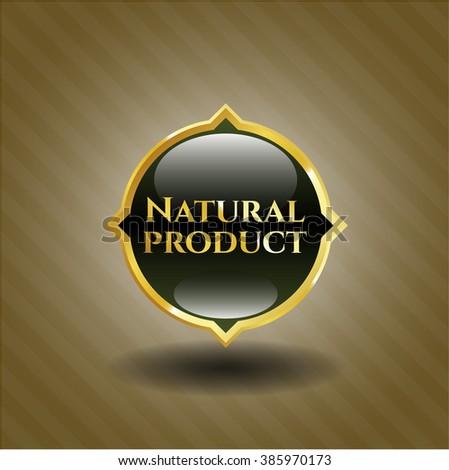 Natural Product golden badge