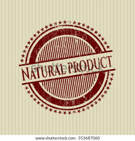 Natural Product grunge stamp